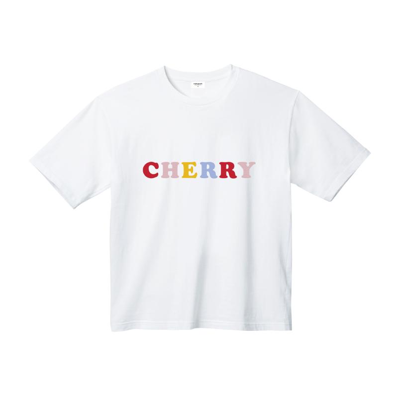 체리 레터링 티셔츠